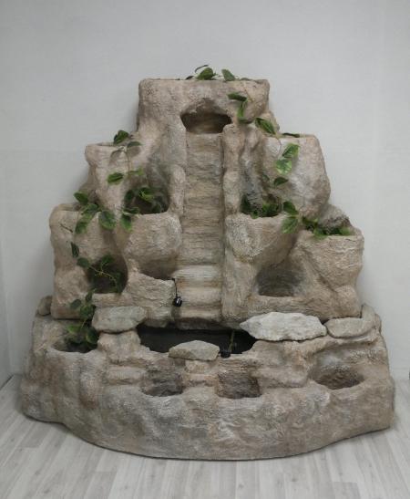 Напольный пристенный фонтан с кашпо