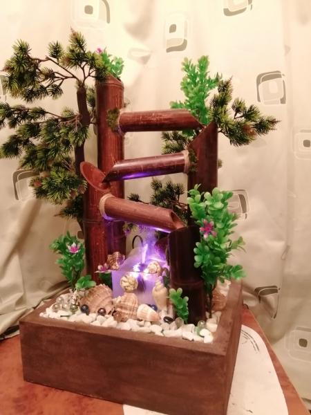 Настольный фонтан Бамбуковый с туманом